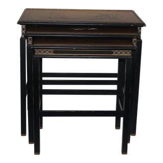 Chinoiserie Nesting Tables - Set of 3