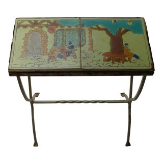 1910 Antique Catalina Tile Topped Table