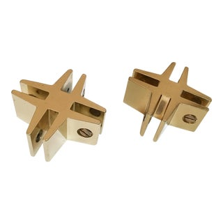 Brass Hashtags with Screw Detail - Pair