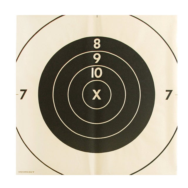 Vintage Bullseye Target Poster - Image 1 of 2