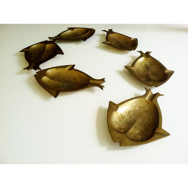 Image of Modernist Brass Fish Nesting Trays - Set of 6