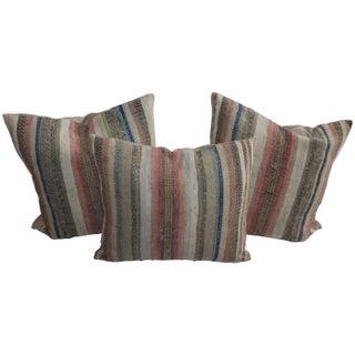 19th Century Pennsylvania Rag Rug Pillows