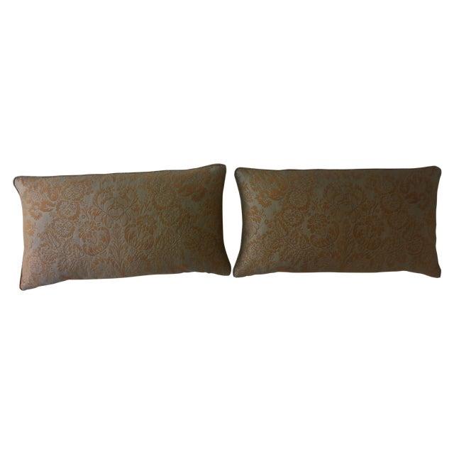 Image of Fortuny Damask Lumbar Pillows - A Pair