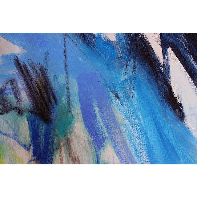 "Trixie Pitts' Abstract Painting ""Night Fishing"" - Image 4 of 6"