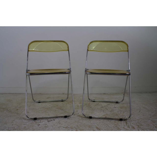 Castelli Plia Lucite Folding Chairs - A Pair - Image 3 of 6