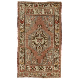 Vintage Turkish Oushak Rug with Traditional Style - 3' x 5'2