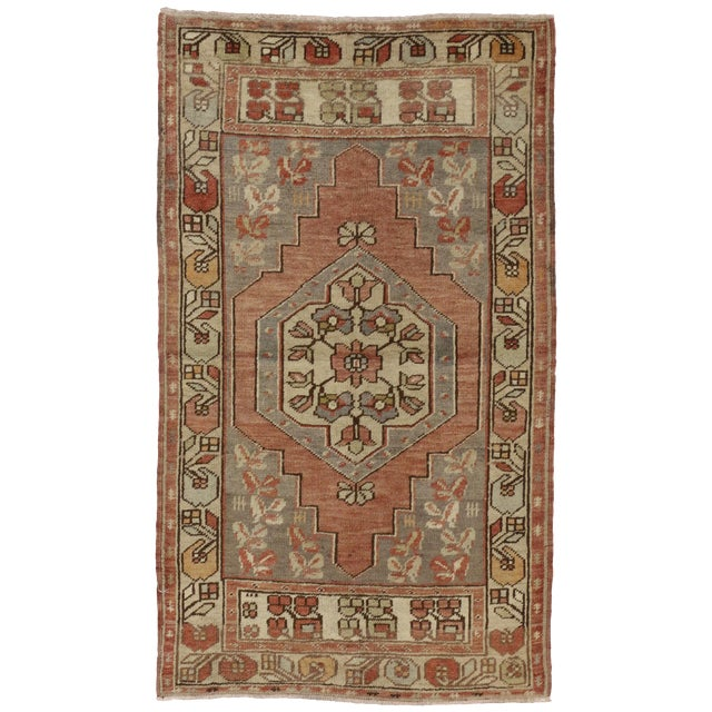 Vintage Turkish Oushak Rug with Traditional Style - 3' x 5'2 - Image 1 of 5