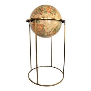 Vintage Paul McCobb Replogle World Globe on Brass Stand Mid-Century Modern MCM