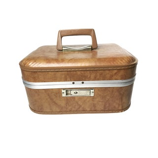 Vintage Mid Century Train Case