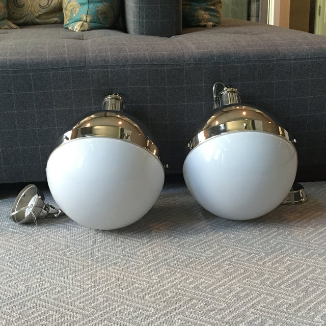 Visual Comfort Hicks Globe Pendants - A Pair - Image 2 of 6