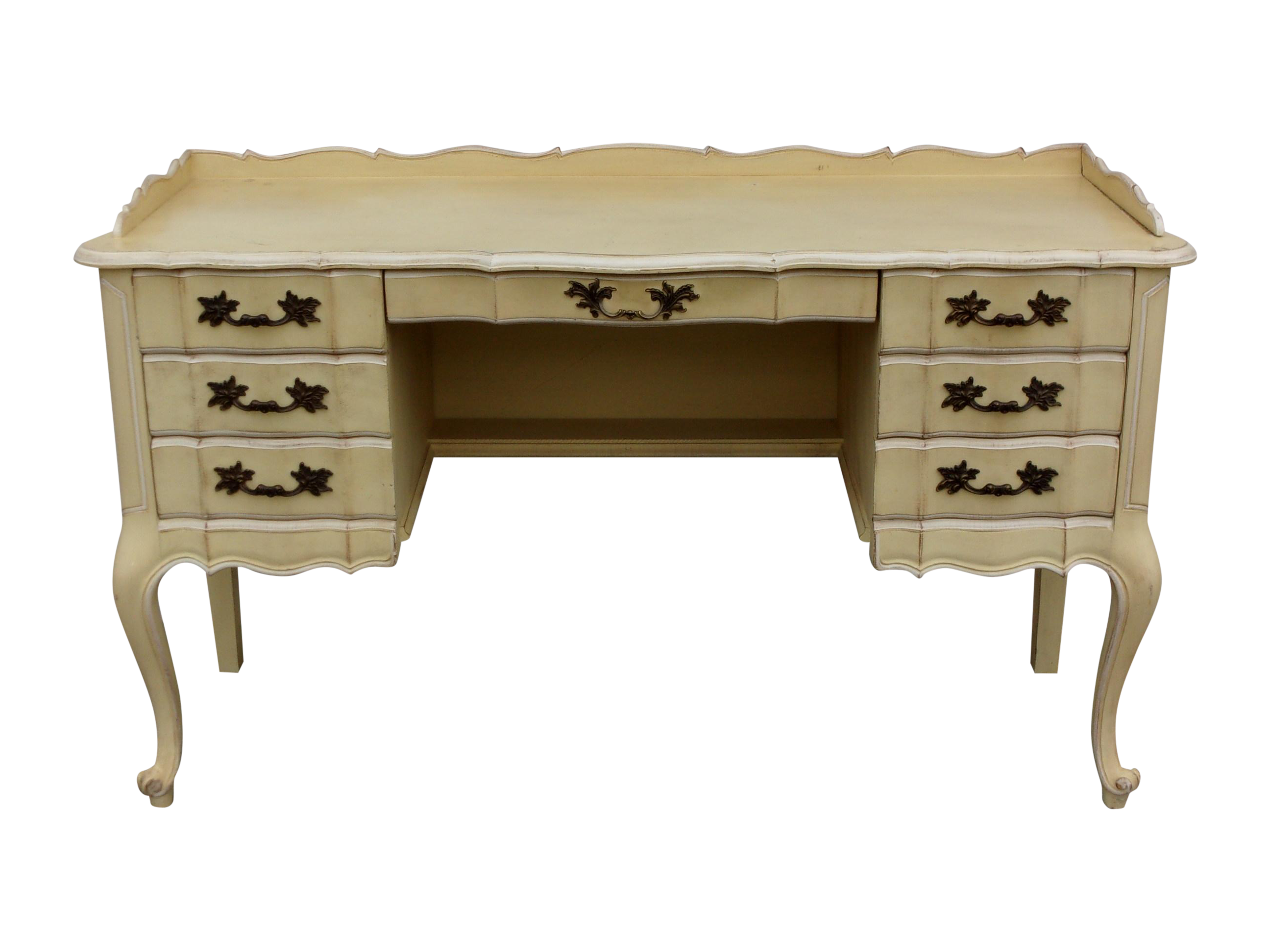 Queen Anne Style French Country Desk