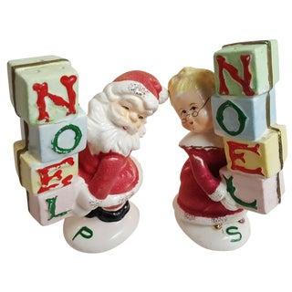 Mid-Century Santa & Mrs. Claus Shakers