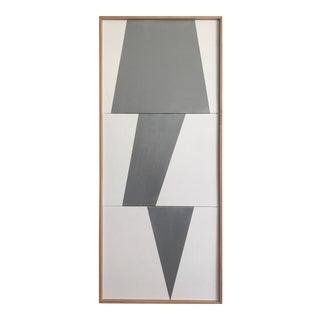 "Jason Trotter Original Acrylic Painting ""Silver Jagged Triptych JET0494"""