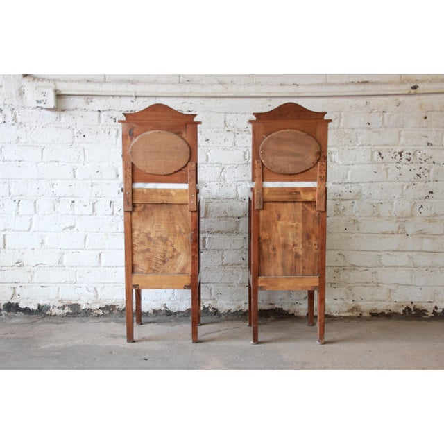 Victorian Walnut & Marble Nightstands - a Pair - Image 7 of 11
