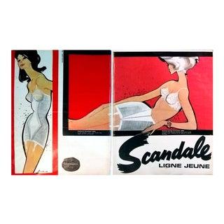 Pierre Couronne 1963 Scandale Lingerie Spread- 2 Page