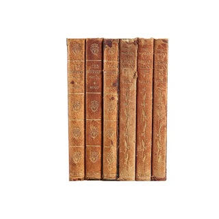 Classic Weathered Leather Books- Set of 6