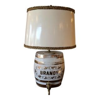 Antique Brandy Dispenser Table Lamp