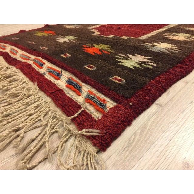 Vintage Turkish Tribal Angora Rug - 3′3″ × 4′5″ - Image 4 of 7