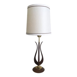 Danish Modern Lamp, Original Mid-Century Shade