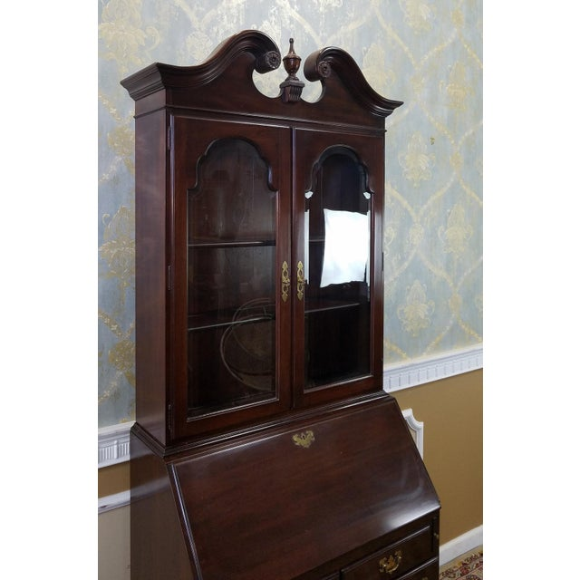 Ethan Allen Cherry Georgian Court Secretary Desk - Image 5 of 8