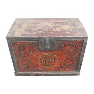 Antique Painted Mongolian Trunk
