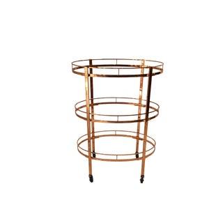 Three Tier Copper Bar Cart