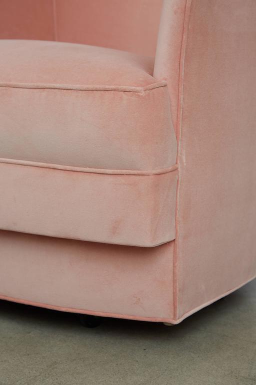 image of john stuart velvet swivel club chairs set of four circa
