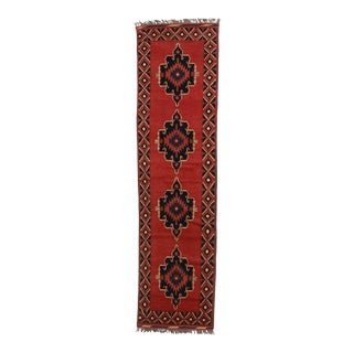 """Vintage Afghan Wool Runner - 2'8"""" x 10'7"""""""