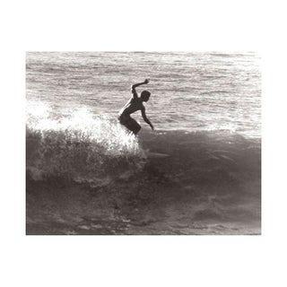 Black & White Vintage Surfer Photo XI