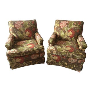 Upholstered Arm Chairs - A Pair