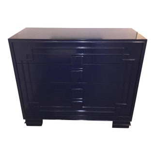 Custom Navy Lacquered Chest