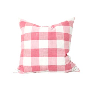 Antique French Vichey Check Pillow