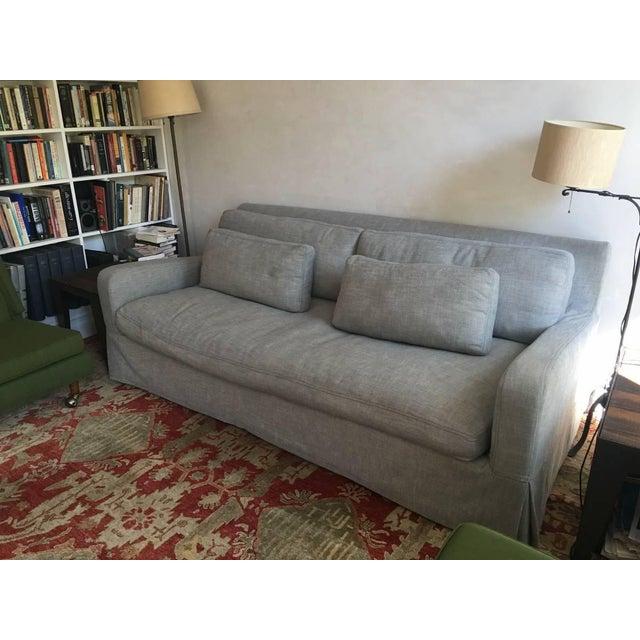 Restoration Hardware Sofa Throws: Restoration Hardware Luxe Slipcovered Sofa