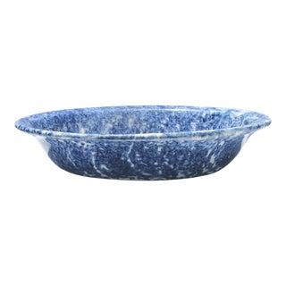 19th Century Sponge Ware Serving Vegetable Bowl