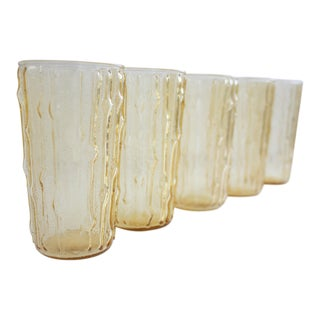 Vintage Bamboo Water Glasses - Set of 5