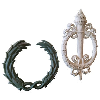Cast Iron Architectural Accent Pieces - A Pair