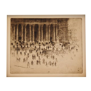 Joseph Pennell Original Etching - The Pavement