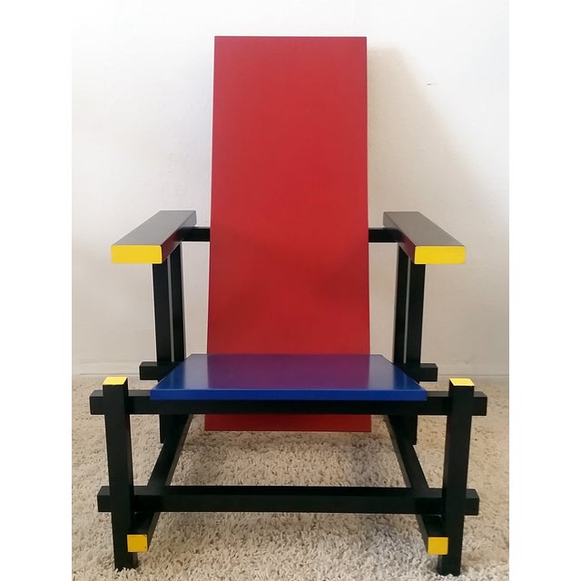 Red & Blue Chair After Gerrit Rietveld - Image 3 of 5