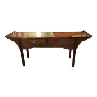 Drexel Asian Altar Console Table