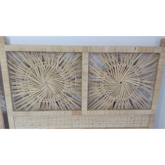 Woven Rattan Twin Headboards - A Pair - Image 8 of 9