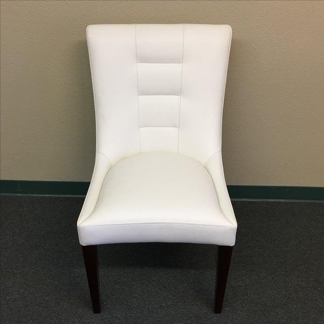 Dakota Jackson White Leather Marina Odile Chair - Image 2 of 10