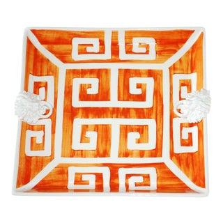 Mane Lion Handpainted Ceramic Lionshead Platter