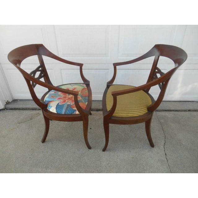 Vintage Baker Furniture Biedermeier Style Dining Chairs - A Pair - Image 5 of 7