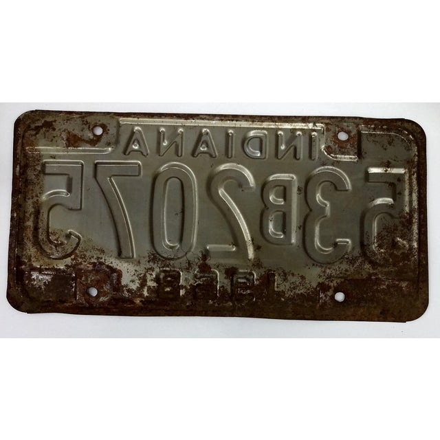 Rustic Mid Century Indiana License Plate 1968 - Image 5 of 6