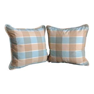 Robert Allen Buffalo Plaid Throw Pillows - a Pair
