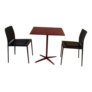 MDF Italia Table & 2 Chairs