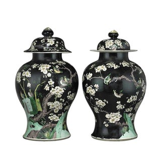Chinese Antique Porcelain Jars - Pair