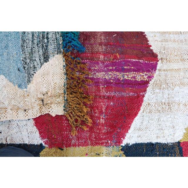 "Moroccan Kilim Boucherouite, 5'8"" x 9'3"" feet - Image 4 of 4"