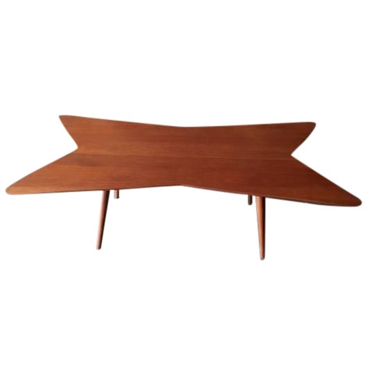 Mid-Century Bow Tie Coffee Table - Image 1 of 6