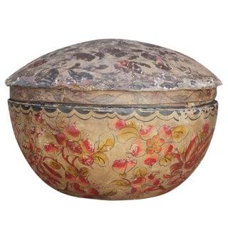 Antique Paper Mache Lidded Bowl
